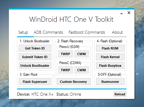 Toolkit HTC One V